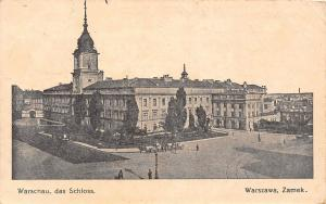 Poland Warschau, das Schloss, Warsaw, Warszawa, Zamek. Feldpost 1916
