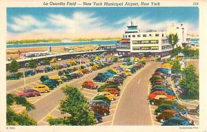La Guardia Field, New York Municipal Airport NY Linen PC