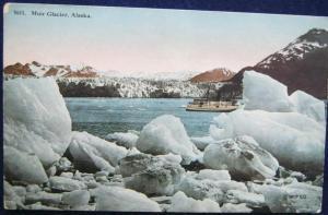 Muir Glacier Alaska Pre Linen Postcard