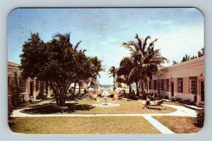Ft Lauderdale FL- Florida, Ocean Plaza Apartments, Chrome c1951Postcard