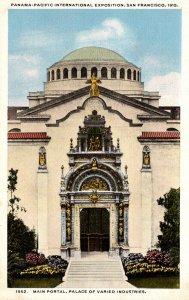 California San Francisco Panama-Pacific International Expo Main Portal Palace...