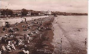 RP, Bathing Beach, People Relaxing On The Sand, Paignton (Devon), England, UK...