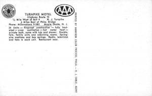Maple Shade New Jersey Turnpike Motel Antique Postcard J44079