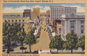 North Carolina Raleigh View Of Fayetteville Street From State Capitol