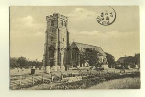 cu1460 - Ashford Parish Church , Kent - postcard