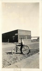 Photo snap shot Boy on bicycle Harm's Studio Rapid City South Dakota SD