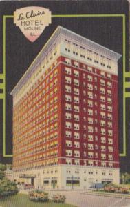 Illinois Moline Le Claire Hotel 1951