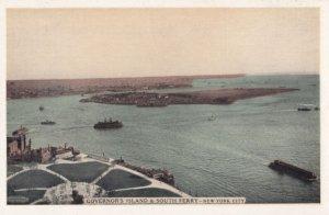 NEW YORK CITY , 1930s ; Governor's Island & South Ferry