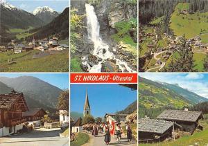 Italy St. Nikolaus Ultental Sudtirol, S Nicolo d'Ultimo Waterfall Pension