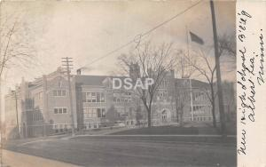 Minnesota Mn Real Photo RPPC Postcard 1911 ALBERT LEA New High School Building