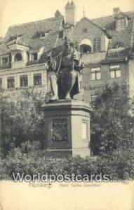 Nurnberg Germany, Deutschland Postcard Hans Sachs Denkmal  Hans Sachs Denkmal