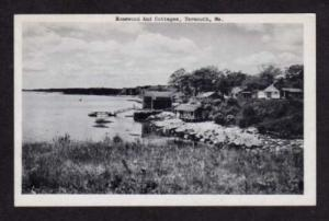 ME Homewood Dock & Cottages YARMOUTH MAINE Postcard PC