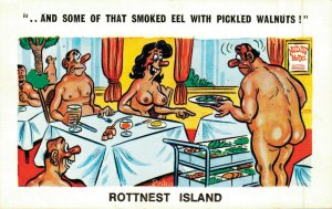 Funny Postcard And Some of that Smoked Eel With Pickled Walnuts! Pedro 04.77