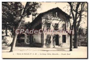 Postcard Old House Retreat From PLM Gorge Black Maseille North Facade