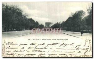 Old Postcard Paris Avenue Bois de Boulogne