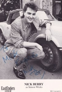 Nick Berry BBC Eastenders Hand Signed Photo