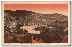 Old Postcard Greoux les Bains Bridge Colliostre