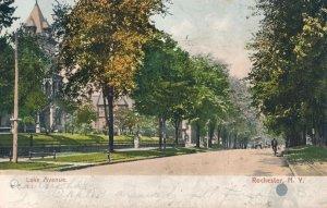 Rochester NY, New York - Scene on Lake Avenue - pm 1907 - UDB