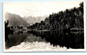 *Lake Matheson Mount Mt Cook New Zealand RPPC Vintage Real Photo Postcard C90