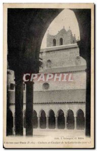Old Postcard Arles sur Tech Cloitres and bell tower of the cathedral