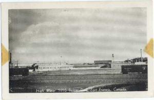 High Water, 1950, Below Dam, Fort Francis, Ontario, ON, 1950 W/B