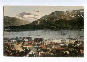 235421 NORWAY TROMSO Vintage tinted postcard