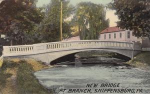 SHIPPENSBURG, Pennsylvania, 1900-1910s; New Bridge at Branch