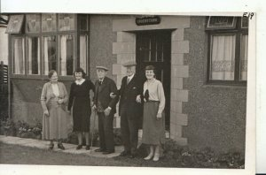 Scottish Social History? Postcard - People Outside - Inverythan - Ref 17582A