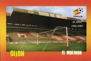 spain, GIJON, El Molinon (2007) Stadium Postcard