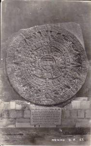 RP, Calendario Azteca O Piedra Del Sol, Mexico, D.F., 1930-1950s
