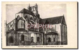 Old Postcard Poitiers Church Montierneuf The Bedside Roman