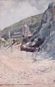 TUCK 6407 : BARMOUTH , UK, 1900-10s ; The Church from the Shore