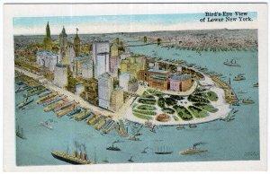 Bird's Eye View of Lower New York