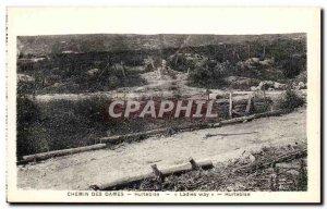 Old Postcard Chemin Des Dames Hurtebise Army