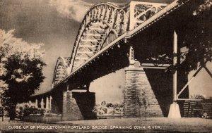 Connecticut Middletown Middletown-Portland Bridge Spanning Connecticut River ...