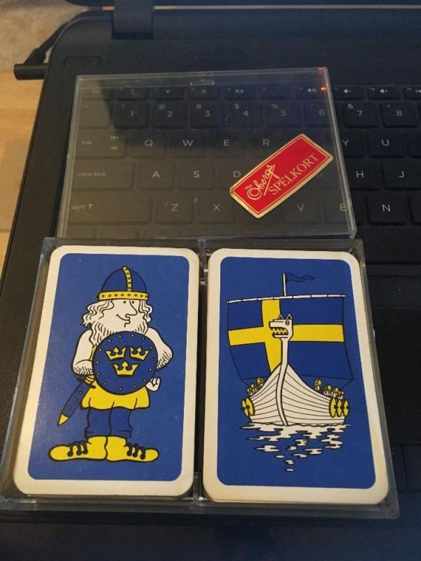 Obergs Spelkort Double Deck Playing Cards in plastic Case