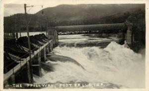 RPPC Postcard 14. The Spillway, Post Falls ID Kootenai County Posted 1924
