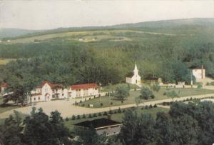 Aerial View, Mary´s Hill Home, Mother of Sorrows Shrine, Mabou, Nova Scotia,...