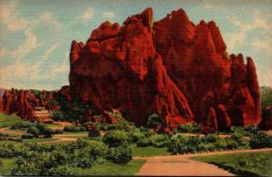 Colorado Vista Of The Garden Of The Gods Curteich