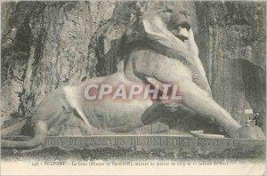 Old Postcard Belfort Lion (Work Bartholdi)
