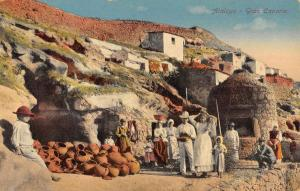 Atalaya Spain Gran Canaria Natives Hill Houses Antique Postcard K71041