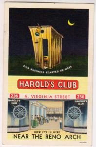 Harold's Club, Outhouse, Reno