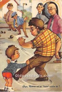 Papa, Maman est en boule contze toi Lawn Bowling Unused