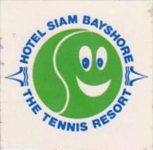 THAILAND HOTEL SIAM BAYSHORE VINTAGE LUGGAGE LABEL
