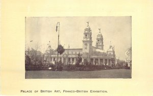 Postcard exhibitions Franco-British exhibition palace of British art