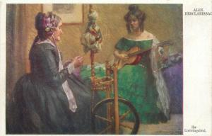 Pre 1920 art postcard Alex Desclabissac - Ihr Lieblingslied your favorite song