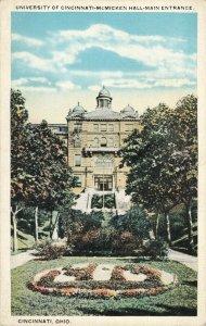 Postcard University of Cincinnati McMicken Hall Main Entrance Ohio