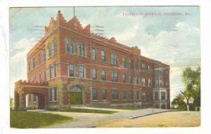 Passavant Hospital, Pittsburg, Pennsylvania,  PU-1912
