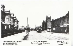 Old Gateshead Postcard - Durham Road - Shipcote c1924 - Pamlin Print  Ref A2948