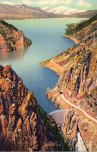 Yellowstone National Park Shoshone Dam and Lake On Cody Road To Eastern Entra...